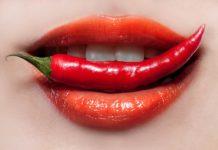 Горький перец и красивые женские губы