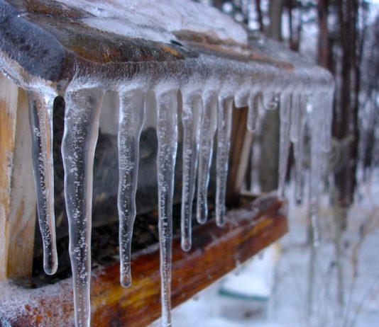 зима сосульки