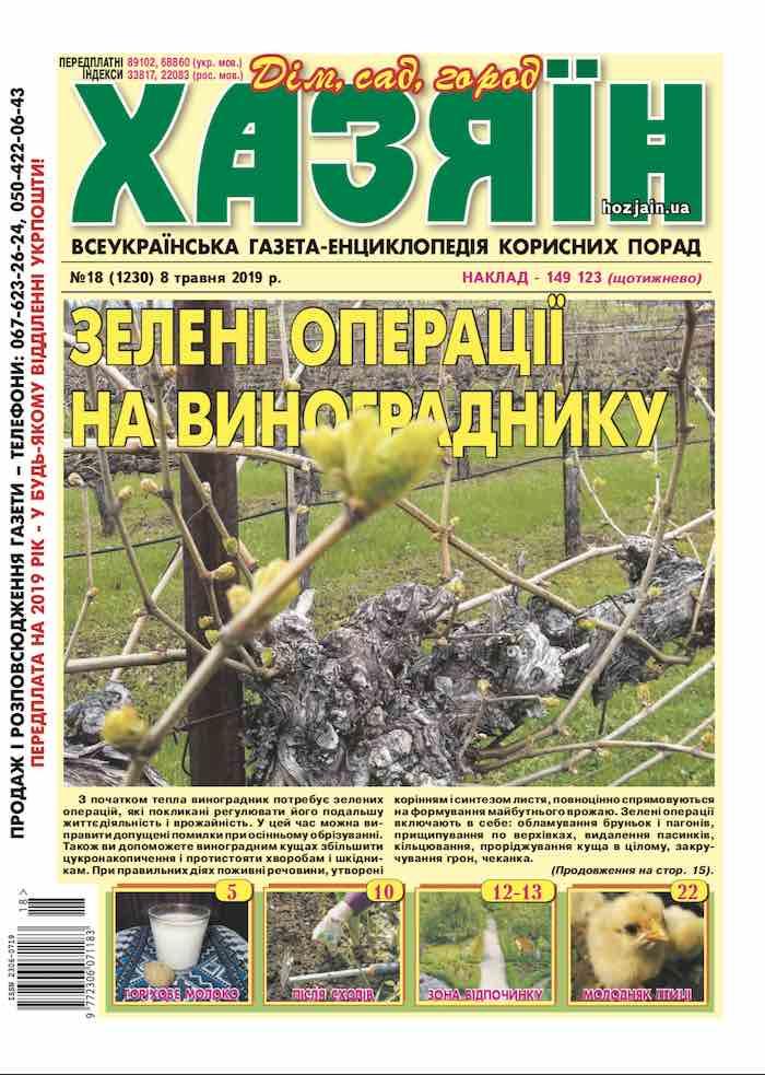 "Газета ""Хазяїн"" №18 от 8 мая 2019"