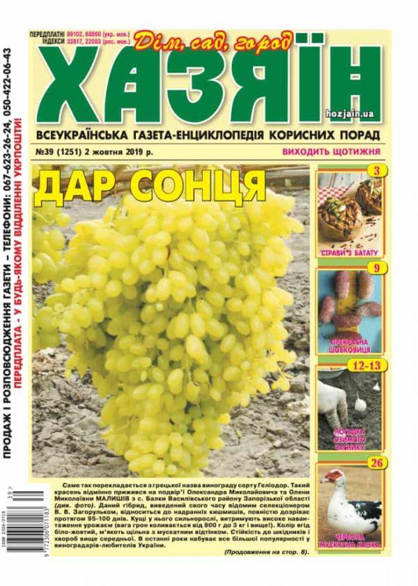 """Хазяїн"" №39/2019"