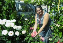 Светлана Петровна Шенгер демонстрирует коллекцию роз