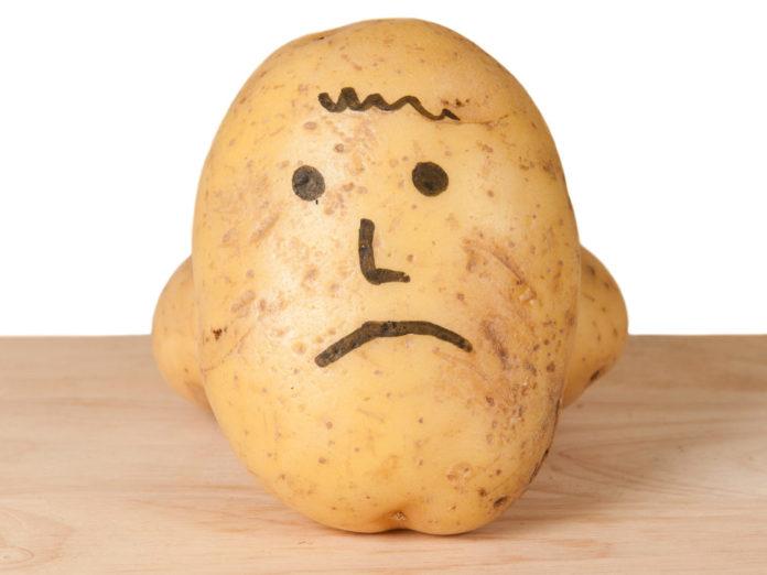 Почернел картофель
