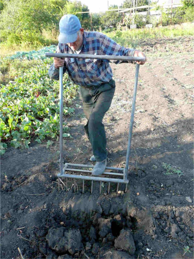 Инструмент для быстрой перекопки огорода