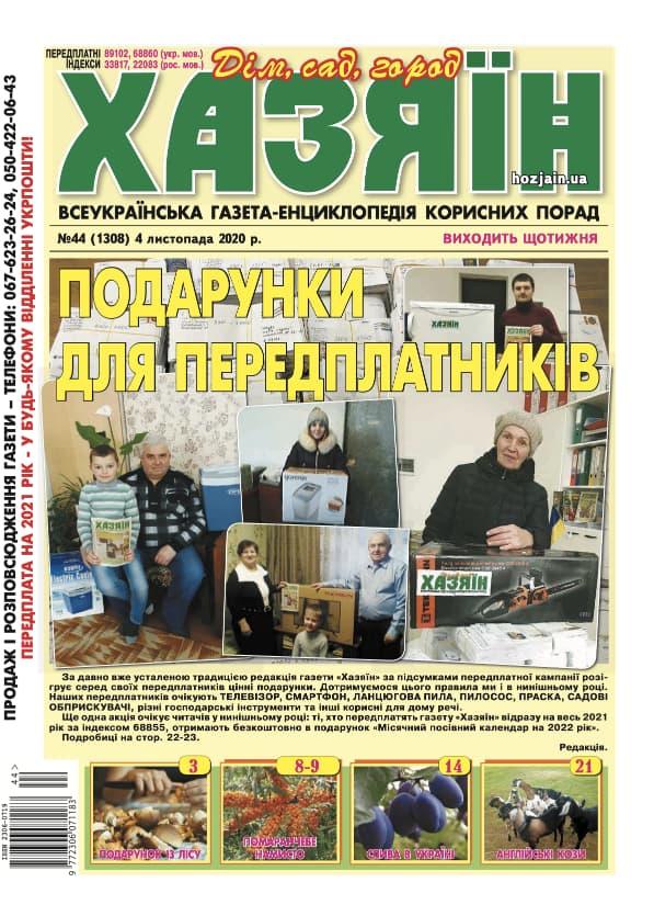 """Хазяїн"" №44/2020"